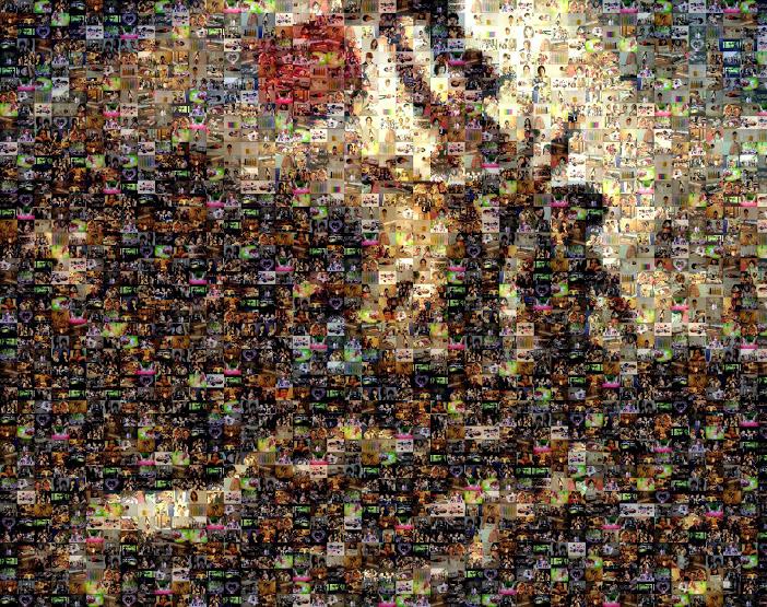 民衆を導く自由の女神 Mosaic